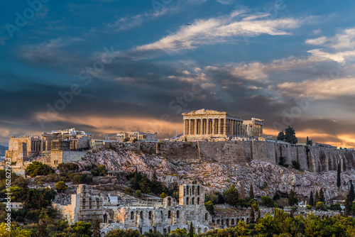 Aluminium Prints Athens Parthenon, Acropolis of Athens, before Sunset