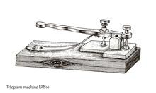 Telegram Machine Hand Drawing ...