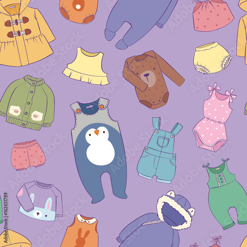 Seasonal infant clothes for kids babyish fashion infantile puerile cloth shop il Canvas Print