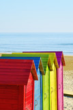 beach huts of different colors - 162634171