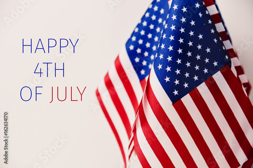 Papel de parede  text happy 4th of july and american flags