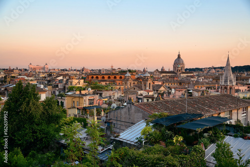 Photo  Rome Rooftop view