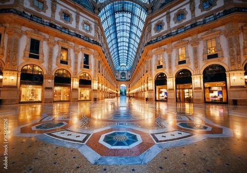 Garden Poster Milan Galleria Vittorio Emanuele II interior