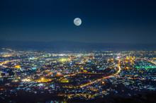 Night View At Doi Suthep View Point Chiang Mai Thailand