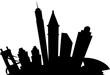 Cartoon skyline silhouette of the city of Cincinnati, Ohio, USA.