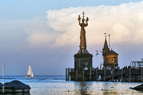 In de dag Stad aan het water Konstanz am Bodensee