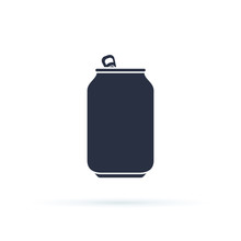Soda Can Vector Icon. Soda Can Icon Isolated On Background. Modern Flat Pictogram, Business, Marketing