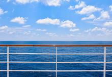 Railing Of Cruise Ship With Oc...