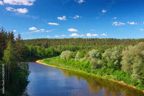 Foto auf Gartenposter Fluss Baltic river valley