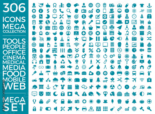 Photo  Set Of Icons, Quality Universal Pack, Big Icon Collection Vector Design Eps 10