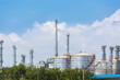 Land scape view of oil refinery plant in day time