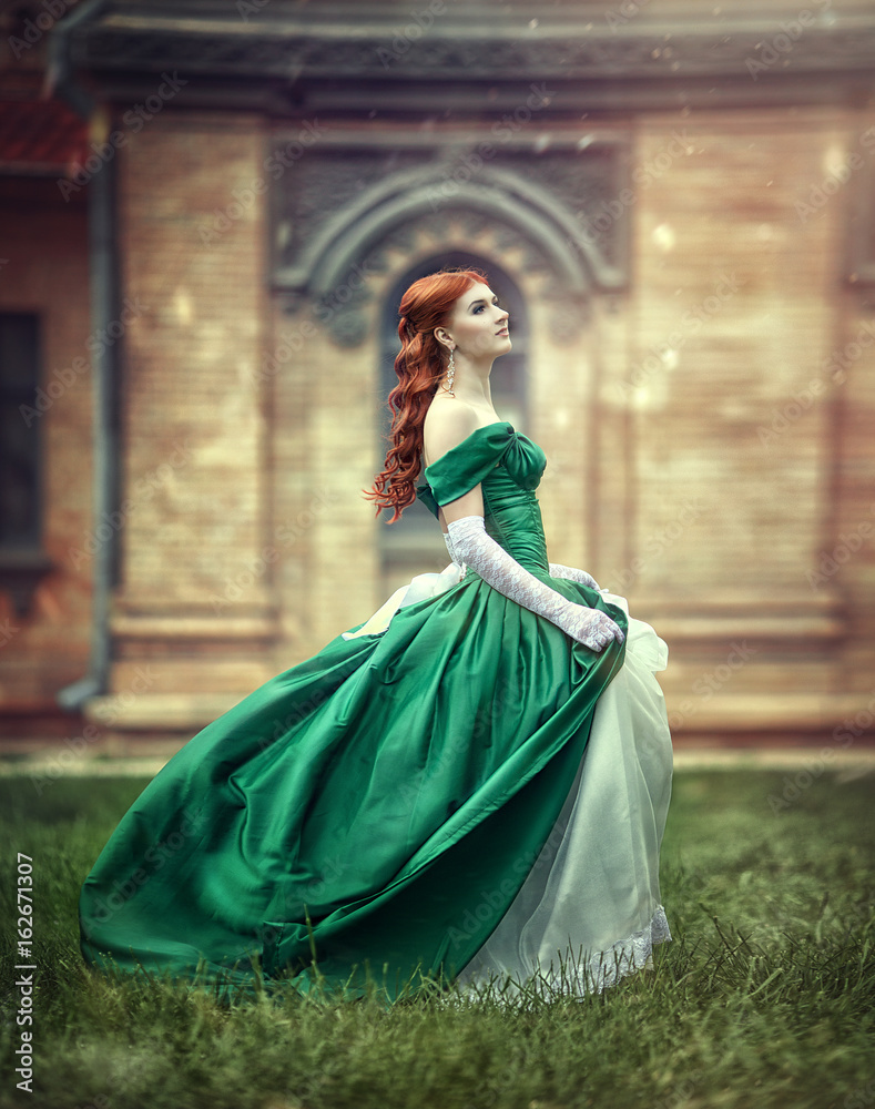 Photo Art Print Beautiful Young Red Haired Girl In A