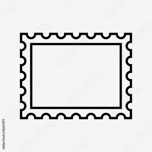 Fotografía  postage stamp icon