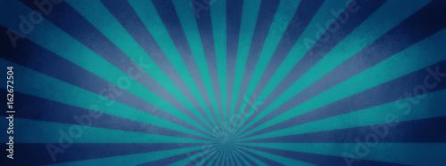blue and purple retro sunburst background design with vintage vignette and textu Fototapet