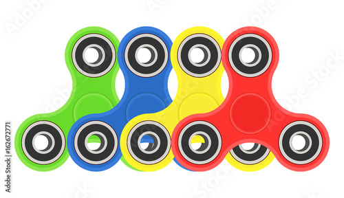 Fotobehang Graffiti collage Color hand fidget spinners set. Vector illustration isolated on white background.