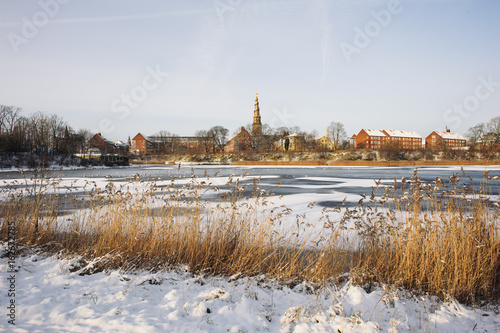 Photo  Frozen lake in Copenhagen