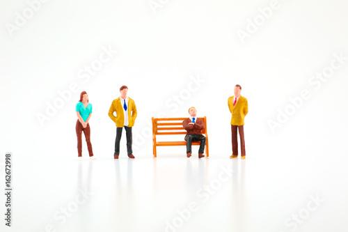 Fotografie, Obraz  Miniature business team