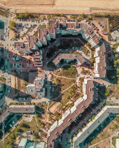 Fototapeta skyscrapers from above obraz na płótnie