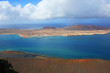 View from Lanzarote Island to La Graciosa Island, Canary Islands, Spain