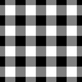 Lumberjack plaid pattern in black and white. Seamless vector pattern. Simple vintage textile design. - 162679111