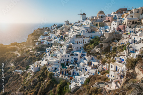 Fototapety, obrazy: Sunset at Oia, Santorini, Greece.