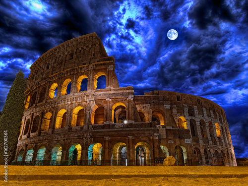 Rome Colosseum by night Rome Italy