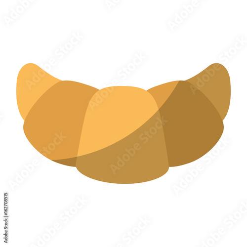 Fototapeta croissant icon over white background vector illustration
