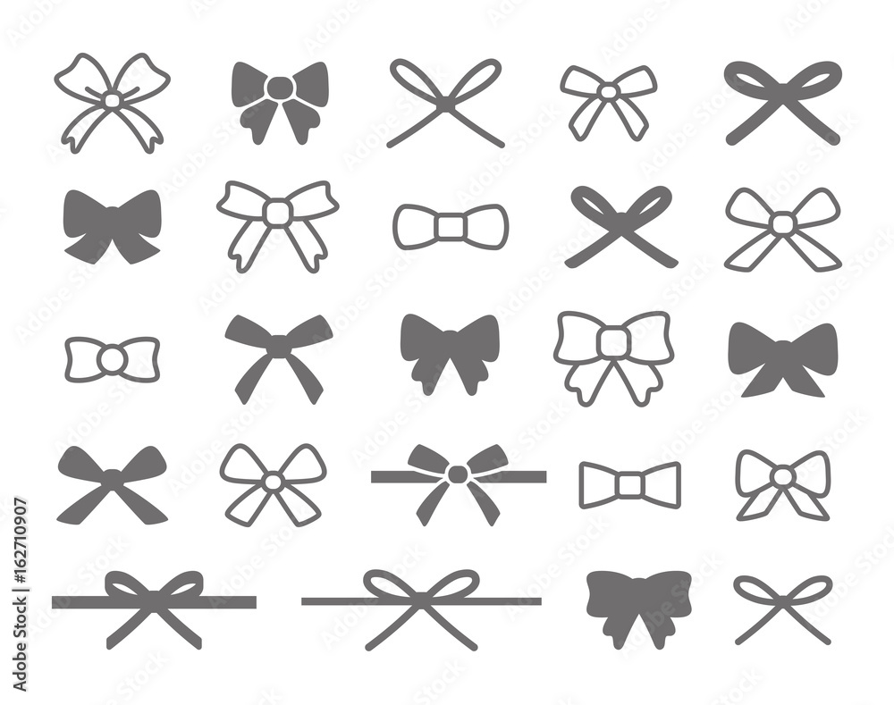 Fototapeta Bow Icon Set
