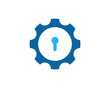 Lock Gear Icon Logo Design Element