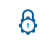 Gear Lock Icon Logo Design Element