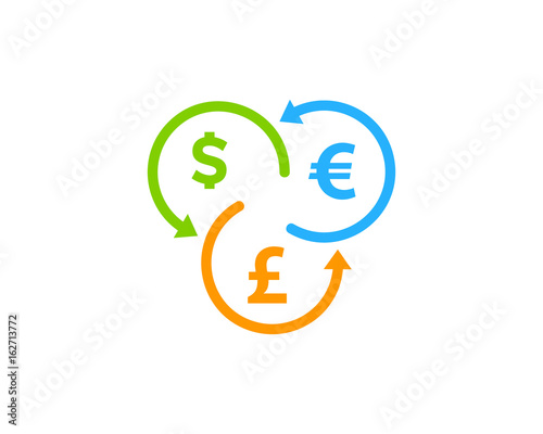 Currency Exchange Stock Market Business Icon Logo Design Element