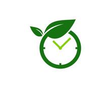 Nature Time Icon Logo Design Element