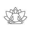 Yoga position linear icon