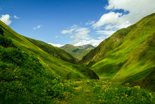 The Green Caucasian Valley In ...