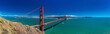 Panoramic large resolution shot of Golden Gate Bridge in San Francisco, California