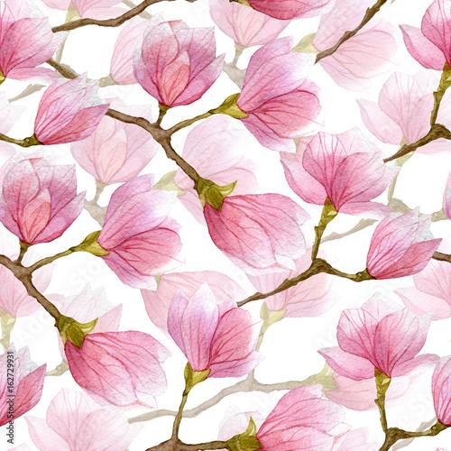 Naklejki na szafę kwiaty-magnolii-na-szafe