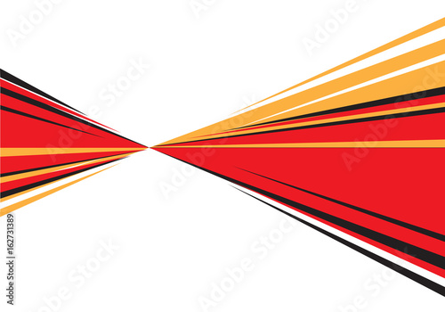 Abstract Red Black Yellow Speed Zoom Line Design For Comic