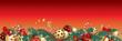 Christmas garland banner