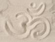 Om symbol in sand