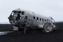 Black Sand Beach Wrecked Plane