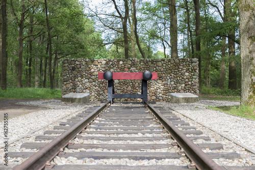 red railroad buffer stop