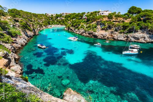 Mallorca Strand Bucht Cala Pi Spanien Mittelmeer Fototapete