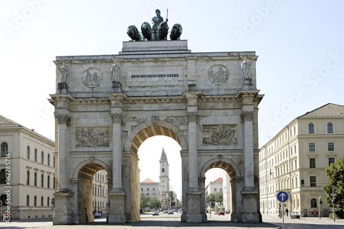Canvas Prints Artistic monument Siegestor in Munich, Bavaria