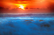 filled with colors of marine tropical sunset.