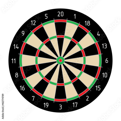 Cuadros en Lienzo Classic Darts, layout vector, isolated on white background