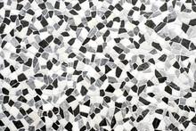 Stone Mosaic Background Texture Black And White