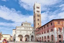 Lucca Cathedral Of St. Martin And Bell Tower, Italy