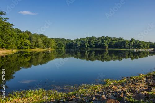 Fotografie, Obraz  Lake Fairfax HDR