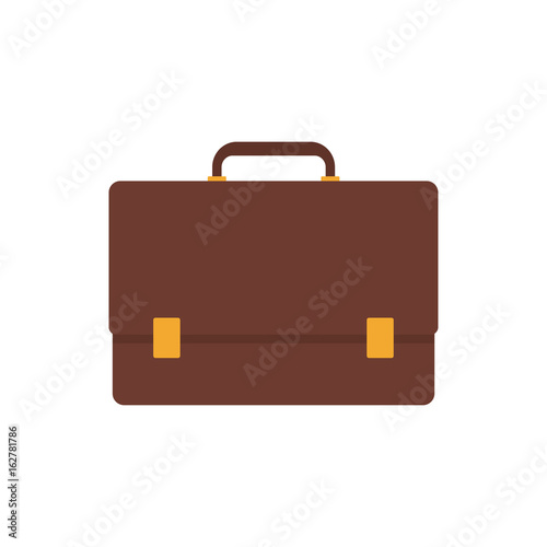Icono plano maletin color en fondo blanco Canvas Print