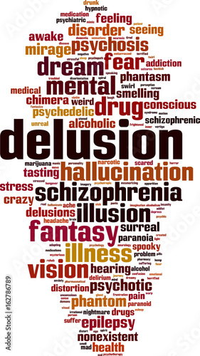 Valokuva  Delusion word cloud